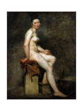Seated Nude, Mademoiselle Rose, 19th Century Giclee Print by Eugène Delacroix