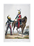 Uniform of a Regiment of Dragoons of the Royal Guard, France, 1823 Giclee Print by Charles Etienne Pierre Motte