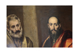 Saints Peter and Paul, C1587-C1592 Giclee Print by  El Greco