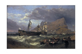 The 'Victory' Towed into Gibraltar, 1854 Giclee Print by Clarkson Stanfield