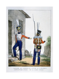 Uniform of the Swiss 7th Regiment of Infantry of the Royal Guard, France, 1823 Giclee Print by Charles Etienne Pierre Motte