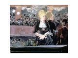 Bar at Folies Bergere, 1881 Giclee Print by Edouard Manet