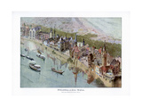 Old Paris, Paris World Exposition, 1889 Giclee Print by Ewald Thiel
