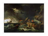 Storm at the Sea, 1740S Giclee Print by Claude-Joseph Vernet