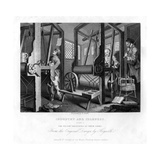 The Fellow Prentices at their Looms, Plate I of Industry and Idleness, 1833 Impression giclée par E Smith