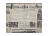 St Paul's Cathedral, City of London, 1725 Giclee Print by David Loggan