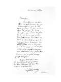 Letter Signed by Eugene Delacroix, French Romantic Artist, 1863 Giclee Print by Eugène Delacroix