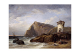 Terracina Tower, 1854 Giclee Print by Clarkson Stanfield