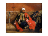 Turk Sitting Smoking on a Couch, 19th Century Giclee Print by Eugène Delacroix