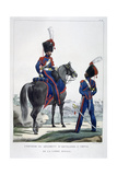 Uniform of a Regiment of Horse Artillery of the Royal Guard, France, 1823 Giclee Print by Charles Etienne Pierre Motte