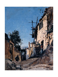 The Old Town Below the Cemetery, Menton, 1890 Giclee Print by Emmanuel Lansyer