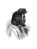 Souakiny Chief, 1848 Giclee Print by Ebenezer Landells