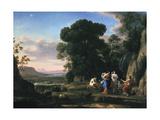 Judgement of Paris (1645-164) Impression giclée par Claude Lorrain