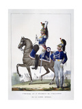 Uniform of the 1st Regiment of Chasseurs of the Royal Guard, France, 1823 Giclee Print by Charles Etienne Pierre Motte