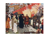 The Departure of John and Sebastian Cabot from Bristol in 1497, C1900-1930 Giclee Print by Ernest Board