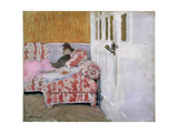 [On the Sofa (The White Roo), 1890-1893 Giclee Print by Edouard Vuillard