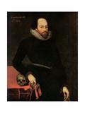 Cornelius Ketel - The Ashbourne Portrait of Shakespeare, 16th Century - Giclee Baskı