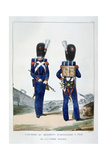 Uniform of a Regiment of Foot Artillery of the Royal Guard, France, 1823 Giclee Print by Charles Etienne Pierre Motte