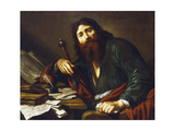 Saint Paul the Apostle, 17th Century Giclée-Druck von Claude Vignon