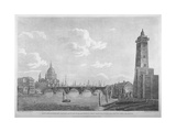 View of Blackfriars Bridge and St Paul's Cathedral, London, 1803 Giclee Print by Daniel Turner