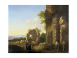 The Departure of Abraham and Isaac, 17th Century Giclee Print by Cornelis van Poelenburgh