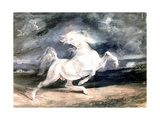 White Horse, 19th Century Giclee Print by Eugène Delacroix