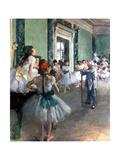 Dance Class, 1874 Giclee Print by Edgar Degas