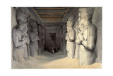 Giant Limestone Statues of Rameses Ii, Temple of Rameses, Abu Simbel, Egypt, 1836 Giclee Print by David Roberts