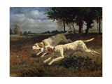 Running Dogs, 1853 Giclee Print by Constant Troyon
