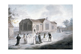 A Procession of Schoolchildren Entering Broadway Chapel, Westminster, London, 1797 Giclee Print by Daniel Orme