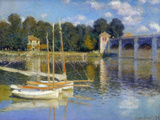 The Bridge at Argenteuil, 1874 Giclée-trykk av Claude Monet