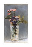 Violets and Clematis in a Crystal Vase, 1882 Giclee Print by Edouard Manet