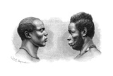 Two Men from French Guinea, C1850-1890 Giclee Print by Emile Antoine Bayard