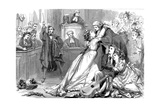 A Scene from Trial by Jury, 1875 Giclee Print by David Henry Friston