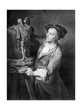 Louis Francois Roubiliac Making a Sculpture of Shakespeare, C1765, (1920) Giclee Print by David Martin