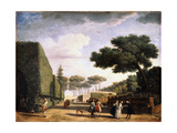 View in the Park of the Villa Pamphili in Rome, 1749 Giclée-Druck von Claude-Joseph Vernet