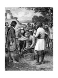 Paying Rent in Saxon Times Giclee Print by Ernest Prater
