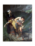 Carrying the Dead, C1842-1896 Giclee Print by Evariste Vital Luminais