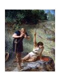 The Knight Calls, C1842-1896 Giclee Print by Evariste Vital Luminais