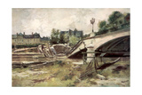 The Bridge at the Aisne, France, 1915 Giclee Print by Francois Flameng