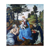 The Virgin and Child with Saints Jerome and Dominic, C1485 Giclee Print by Filippino Lippi