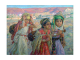 Young Girls Carrying Water, C1881-1926 Giclee Print by Etienne Dinet