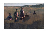 In the Field, C1875 Giclee Print by Eastman Johnson