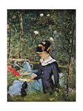 Young Girl on the Threshold of the Garden at Bellevue, 1880 Giclee Print by Edouard Manet