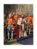 Officers of the Heralds' College, Coronation Ceremony Giclee Print by Frederic De Haenen
