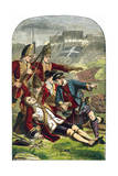 Death of General James Wolfe at the Siege of Quebec, 1759 Giclee Print by Edward Henry Corbould