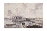 Construction of Blackfriars Bridge, London, C1762 Giclee Print by Francis Grose