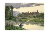 Soldiers at the Edge of the River, 19th-Early 20th Century Giclee Print by Etienne Prosper Berne-bellecour