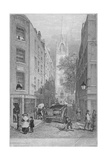 Church of St Dunstan-In-The-East from the Custom House, City of London, 1828 Giclee Print by Edward William Cooke