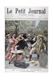 Incident at the Grand-Prix, Pavillion D'Armenonville, France, 1899 Giclee Print by Eugene Damblans